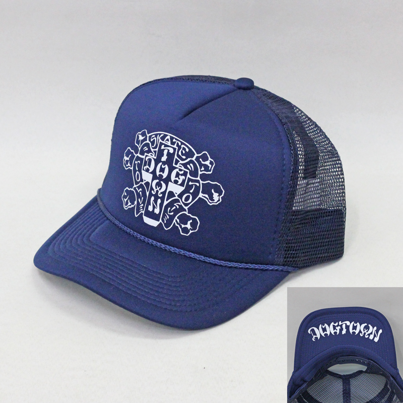 dogtown mesh flip hat sk8 to live navy