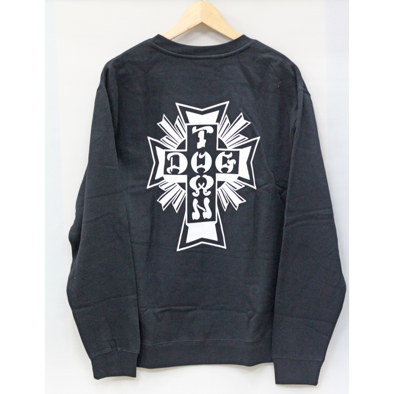 cross logo crewneck black