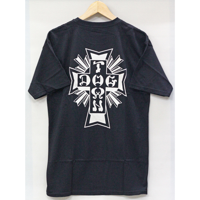 cross logo tee black