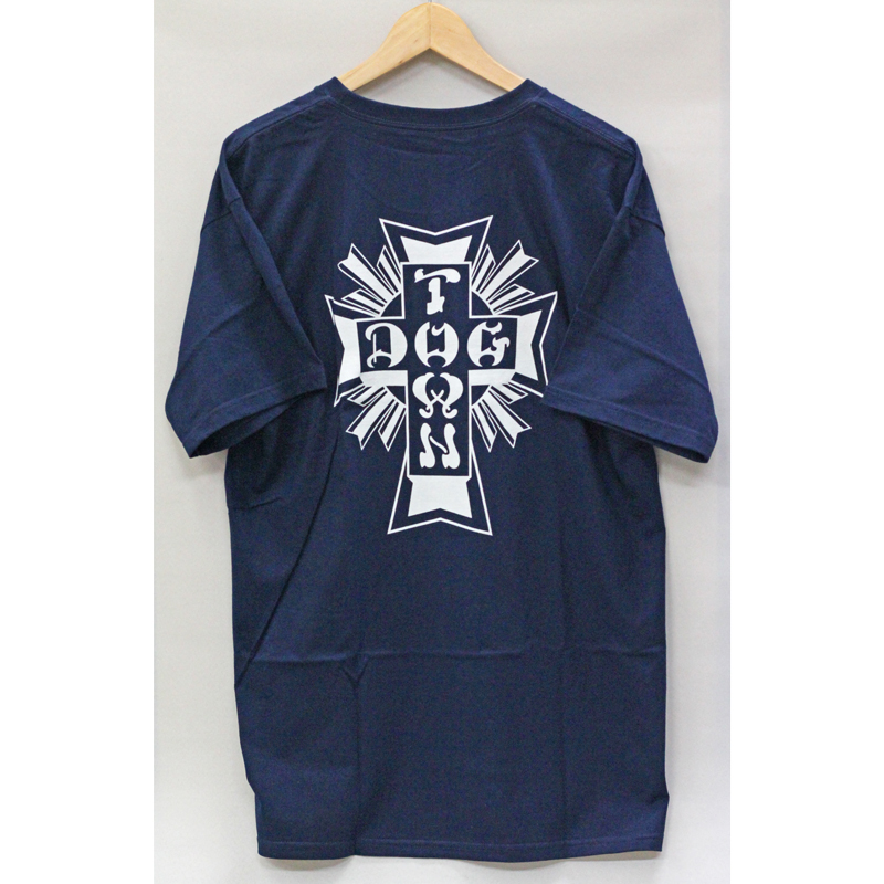 cross logo tee navy