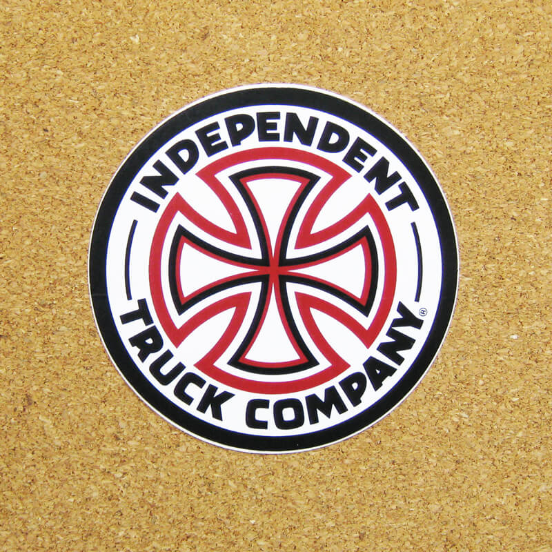 indy red and white cross sticker