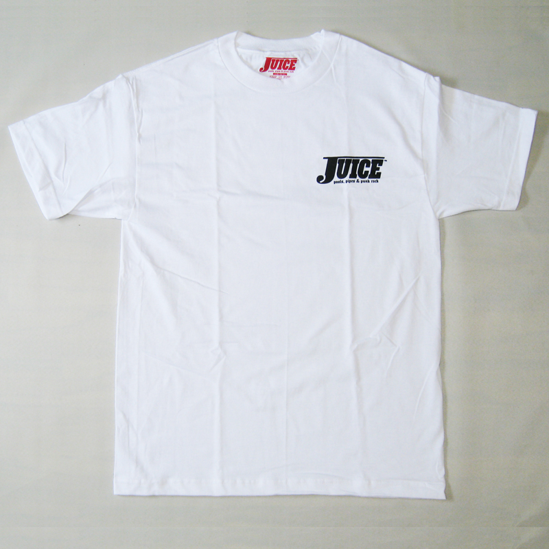 juice pools, pipes and punkrock special ops tee white with black logo