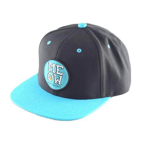 meow stacked snapback cap