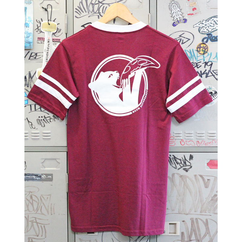meow cat snax jersey maroon