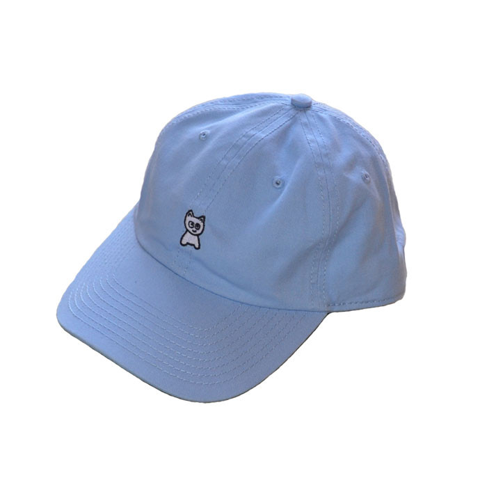 meow unstractured hat baby blue