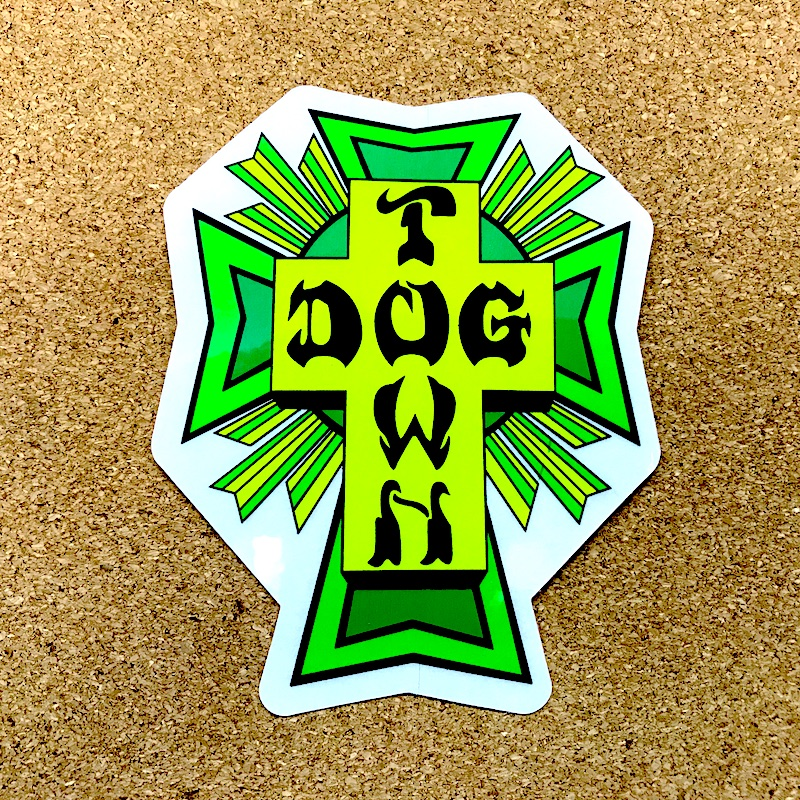 dogtown cross lime & green