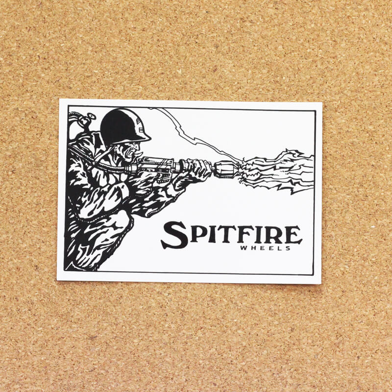 spitfire sticker flame thrawer