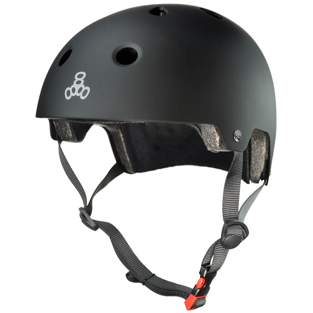 triple eight eps helmet all black rubber