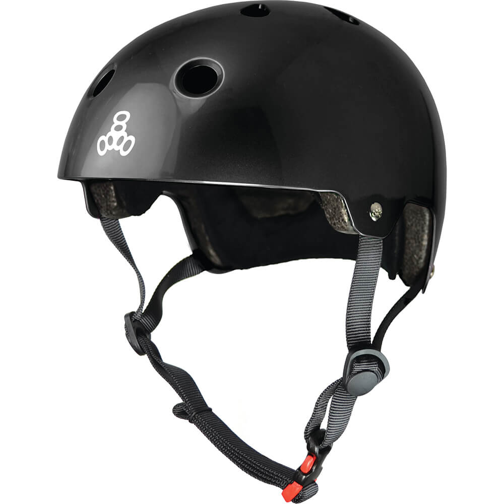 triple eight eps helmet black gloss