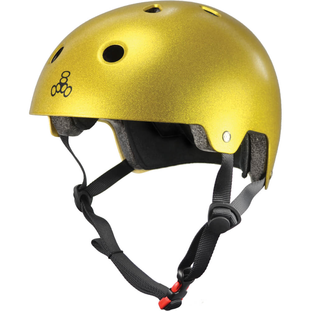triple eight eps helmet gold flake