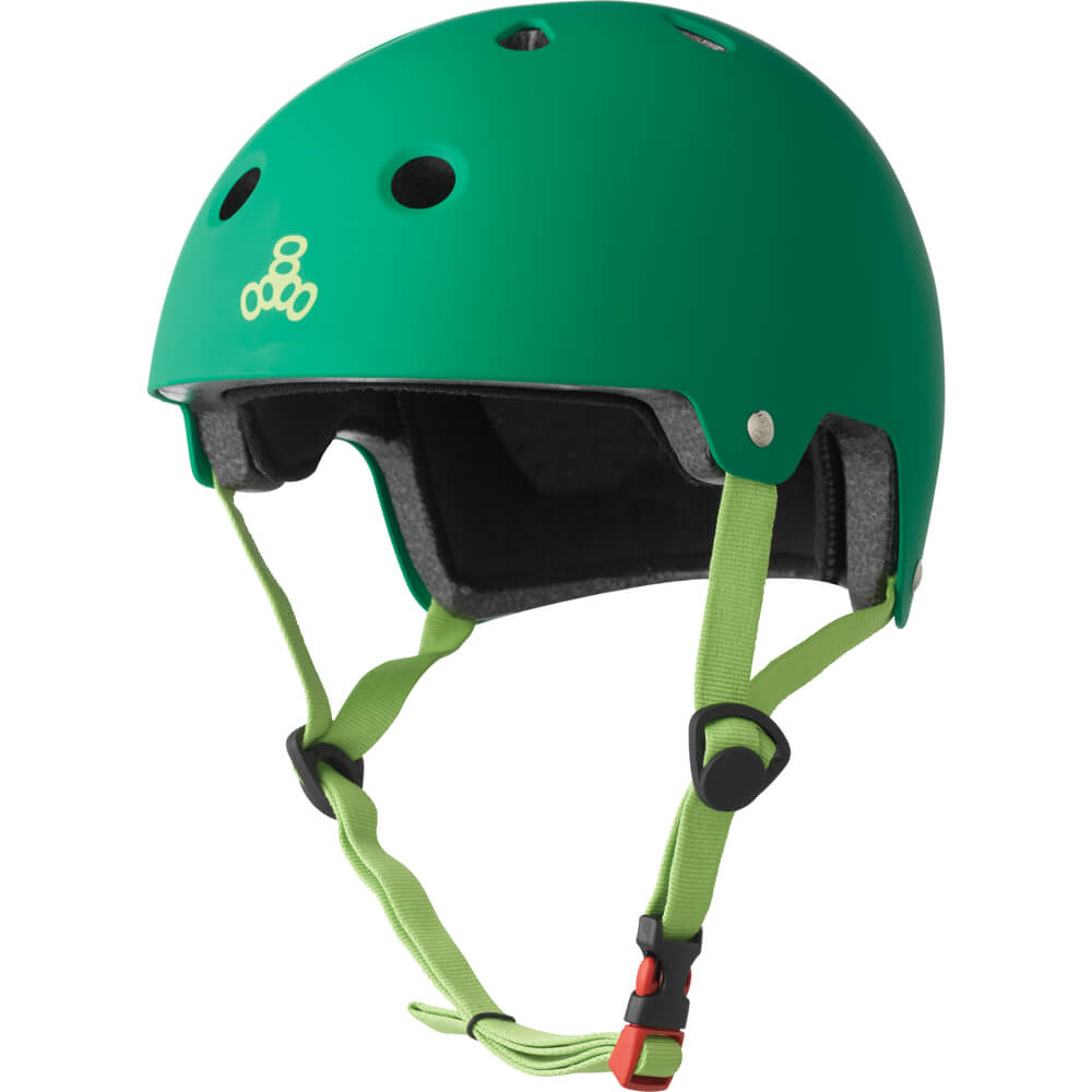 triple eight eps helmet kelly green rubber