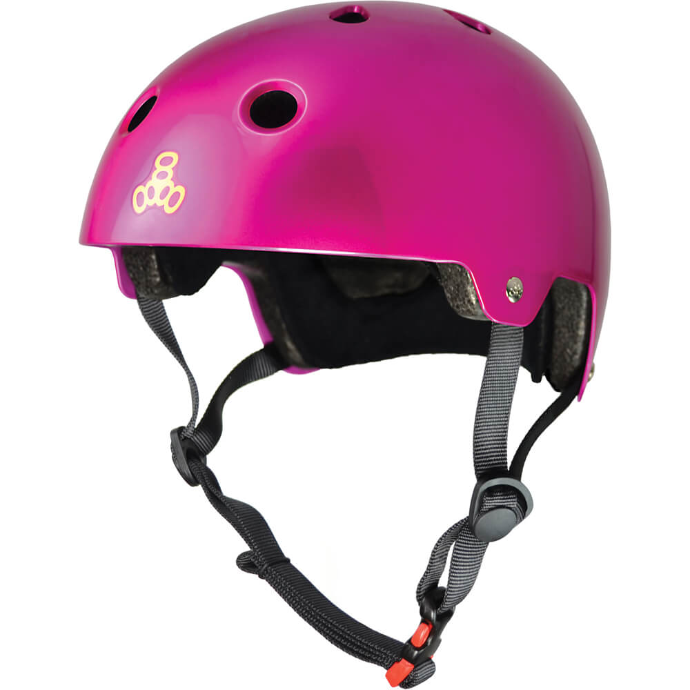 triple eight eps helmet pink metallic
