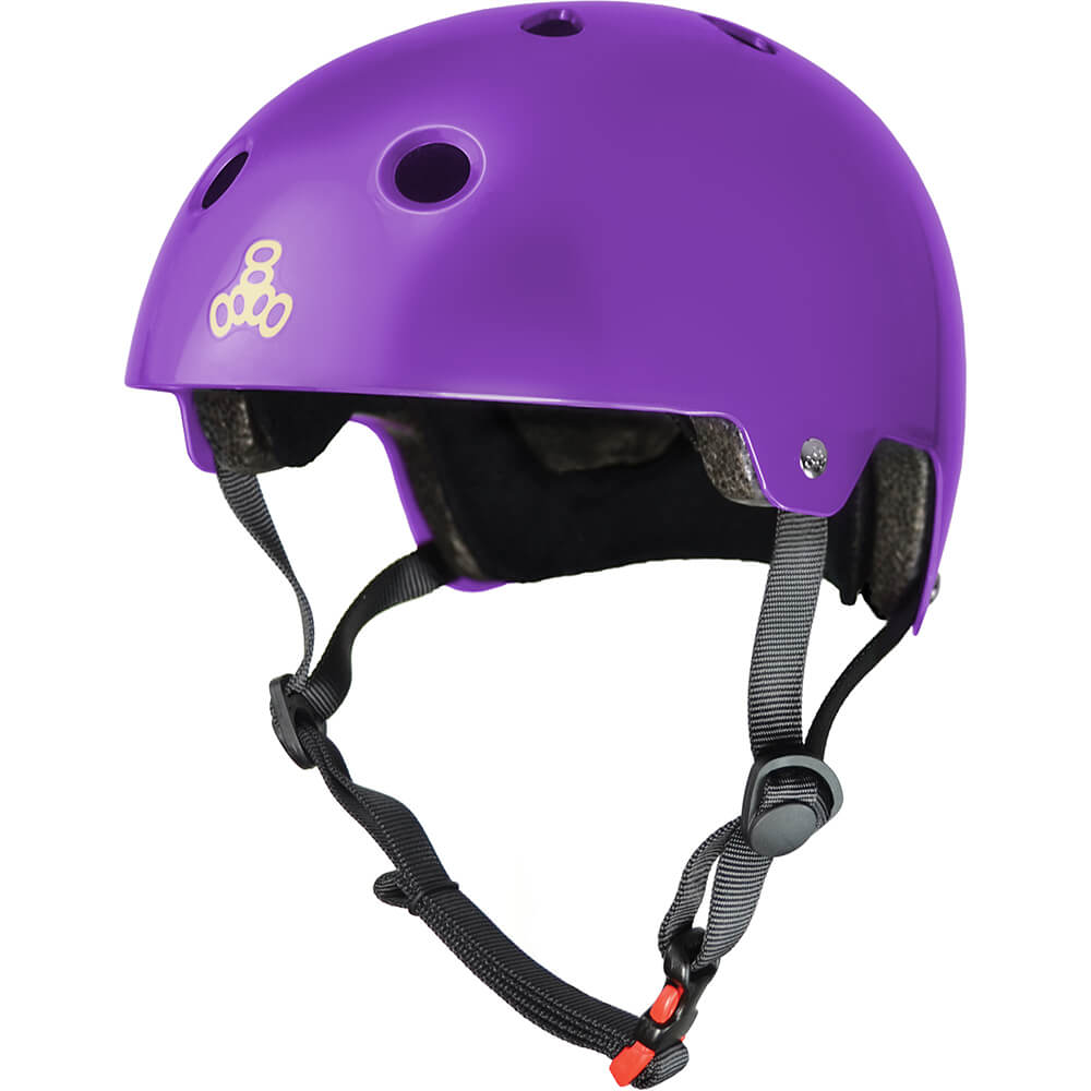 triple eight eps helmet purple gloss
