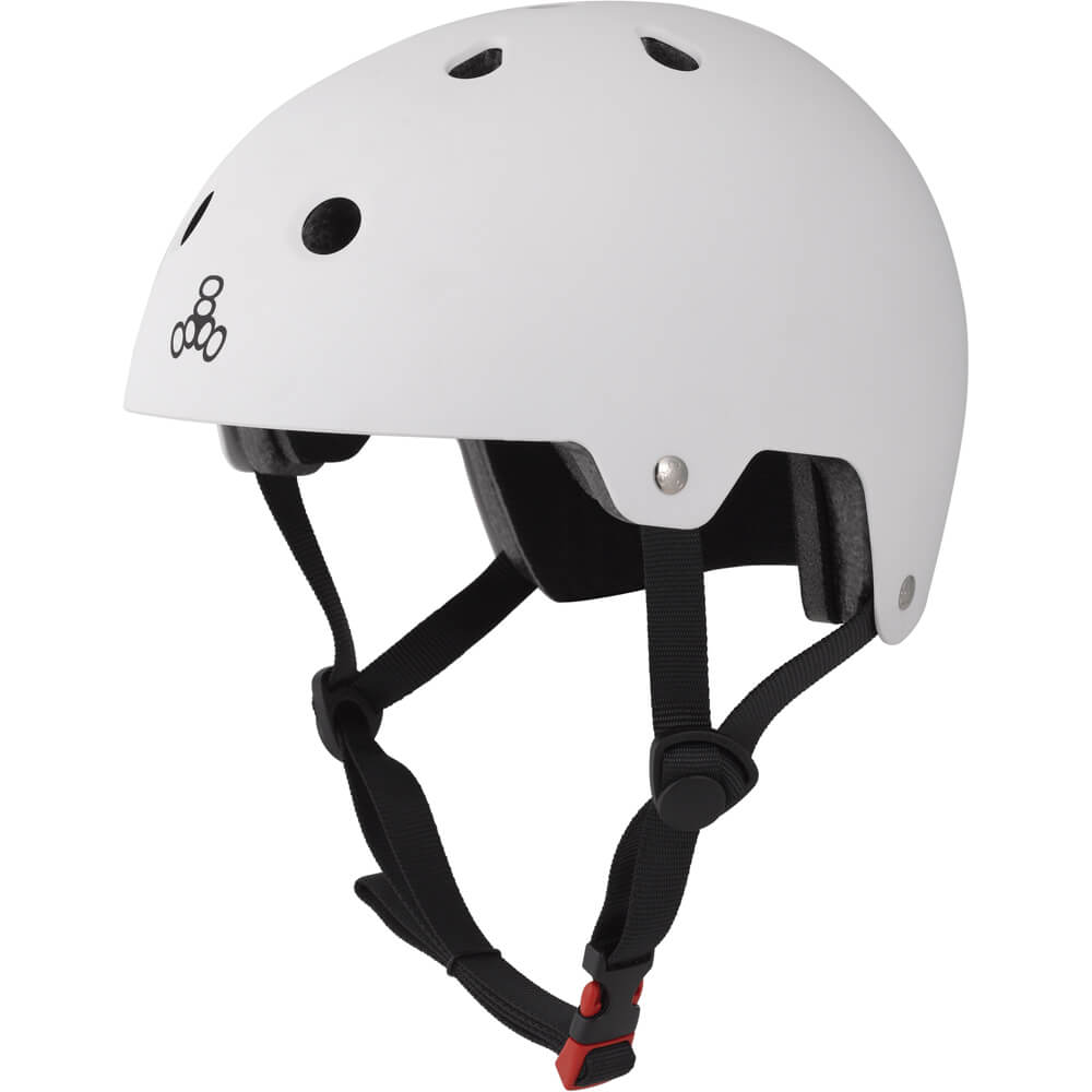 triple eight eps helmet white rubber