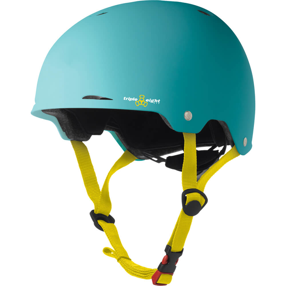 triple eight gotham helmet baja teal rubber