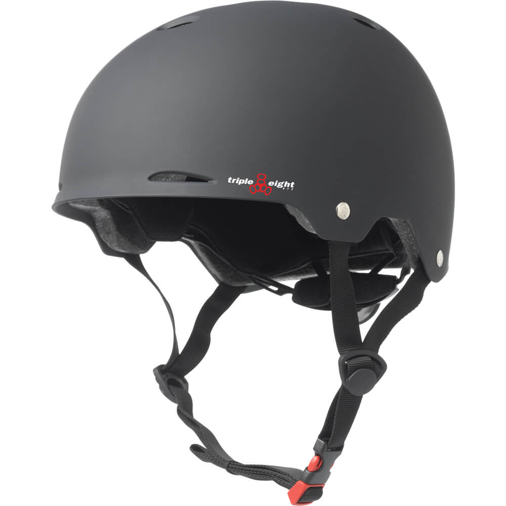 triple eight gotham helmet black rubber