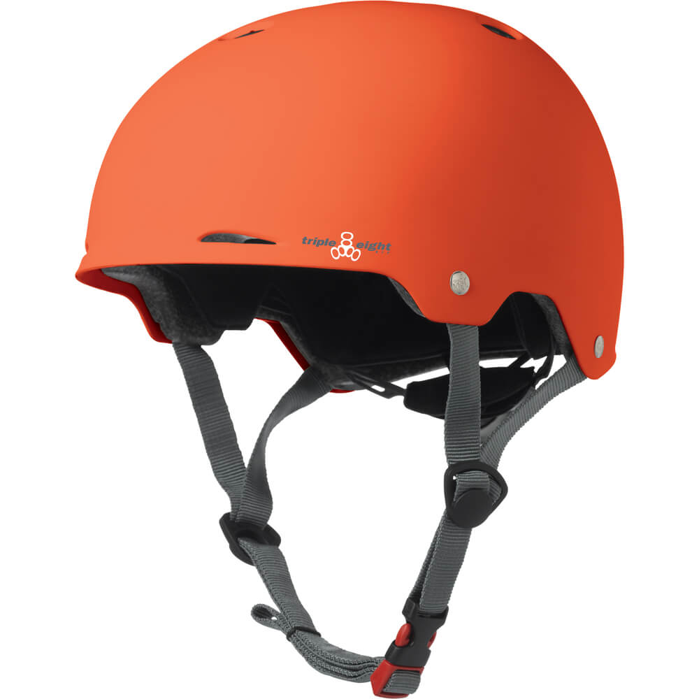 triple eight gotham helmet orange rubber