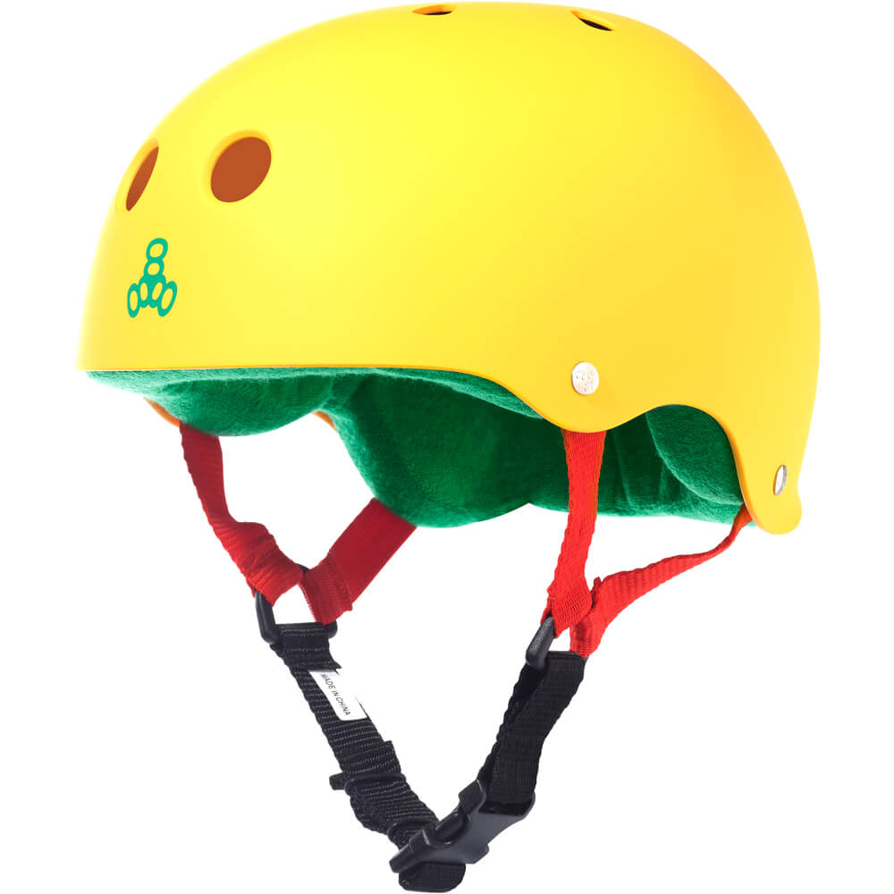 triple eight rasta yellow rubber