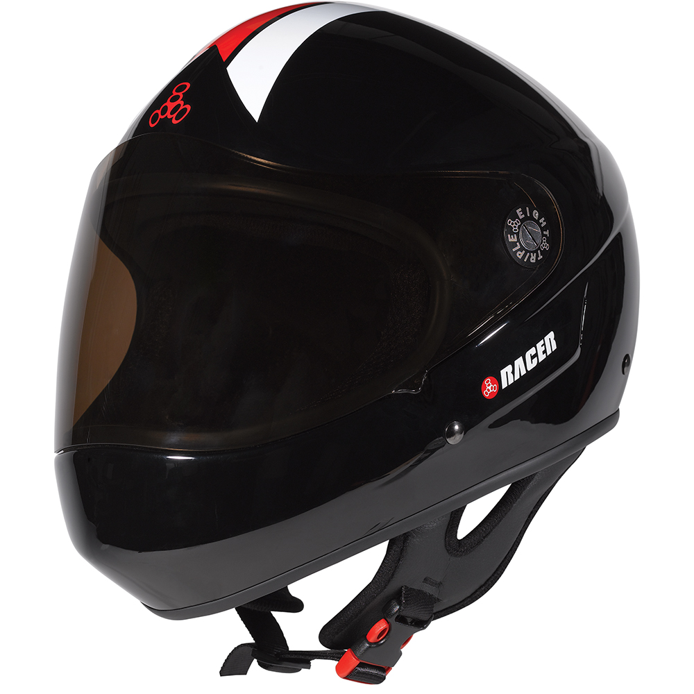 triple eight racer helmet black glossy