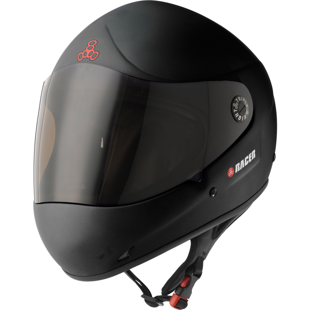 triple eight racer helmet black rubber