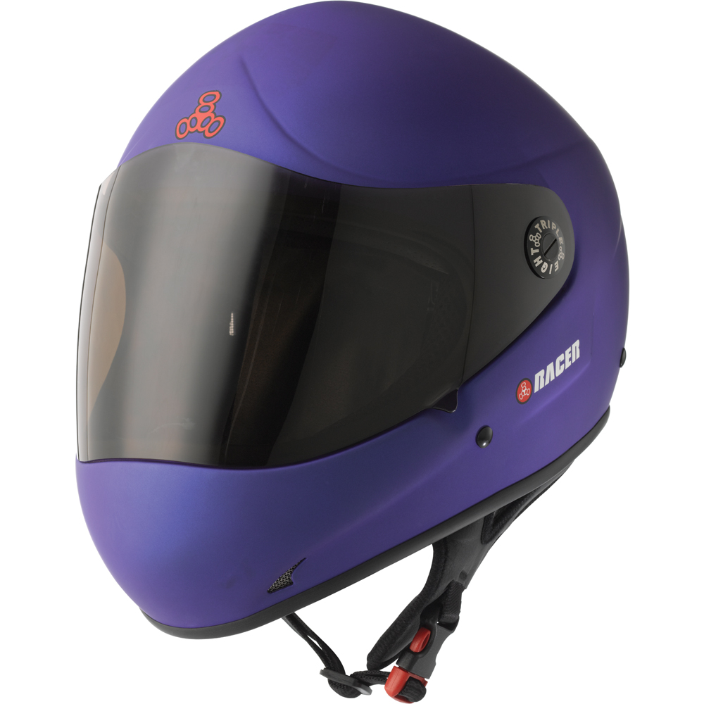 triple eight racer helmet blue rubber